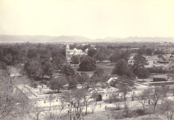 The Sujjan Niwas gardens and the Victoria Hall, Udaipur